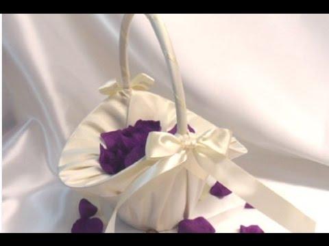 Wedding Flower Basket Decoration Youtube