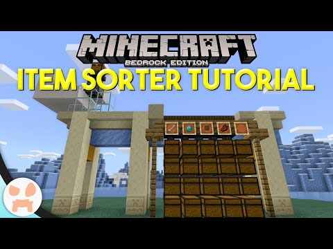 Minecraft Bedrock ITEM SORTER TUTORIAL | Easy, Automatic, Expandable