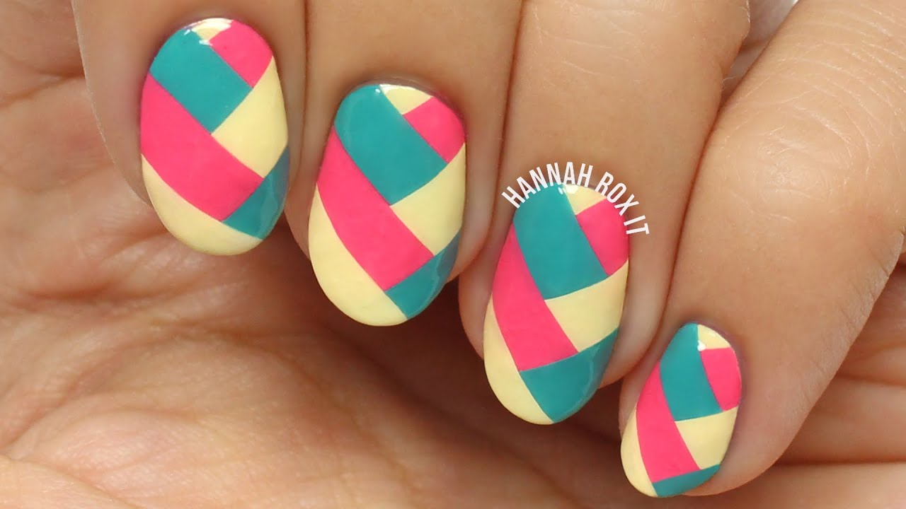 easy braided nail art diy
