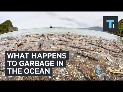 What happens to garbage in the ocean