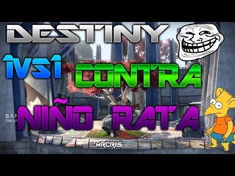 DESTINY 1VS1 CONTA NIÑO RATA Y SE SALE DE LA PARTIDA