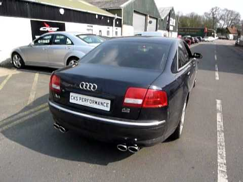 audi a8 4 2 v8 petrol cks sport exhaust system youtube. Black Bedroom Furniture Sets. Home Design Ideas