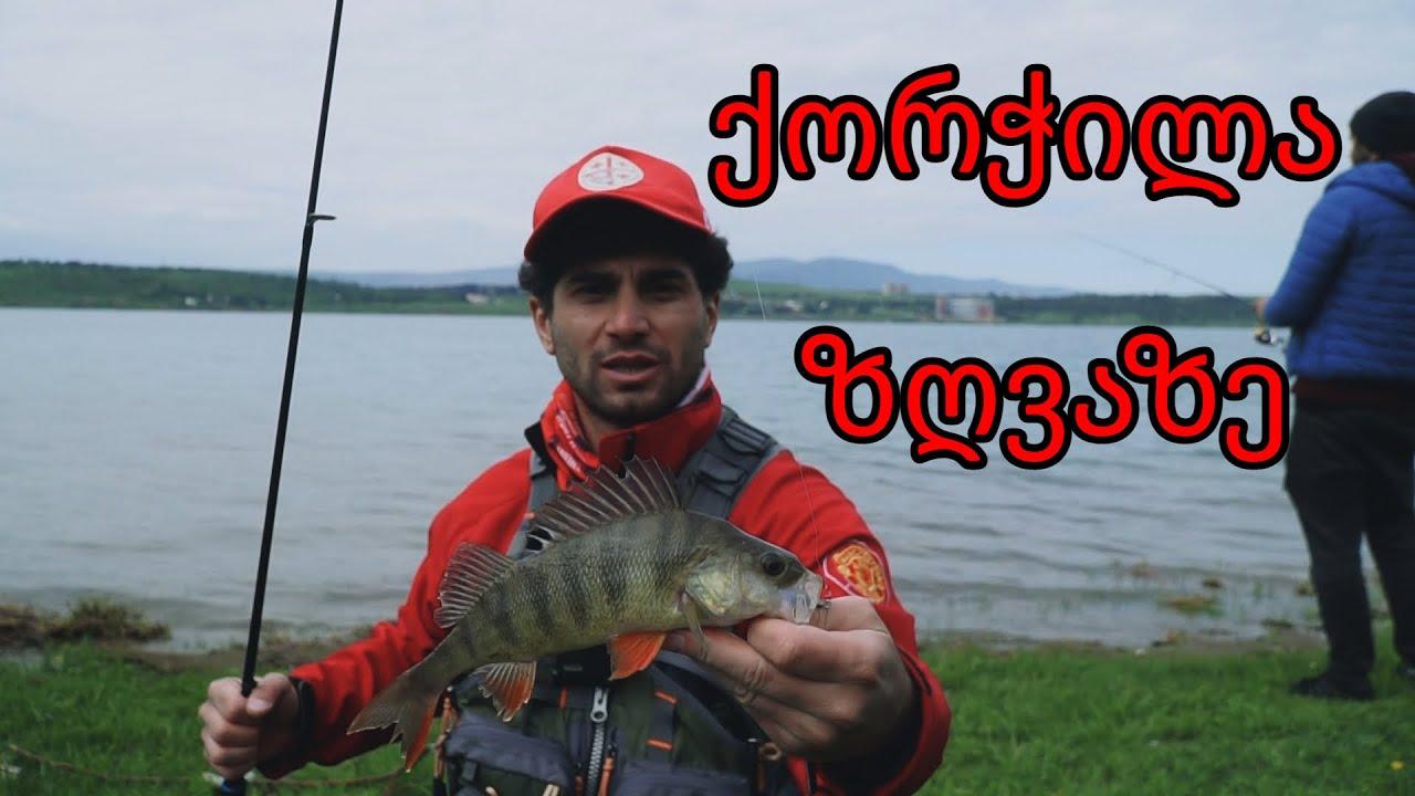 თევზაობა თბილისის ზღვაზე ქორჭილა Ловля окуня в Грузии Тбилиси