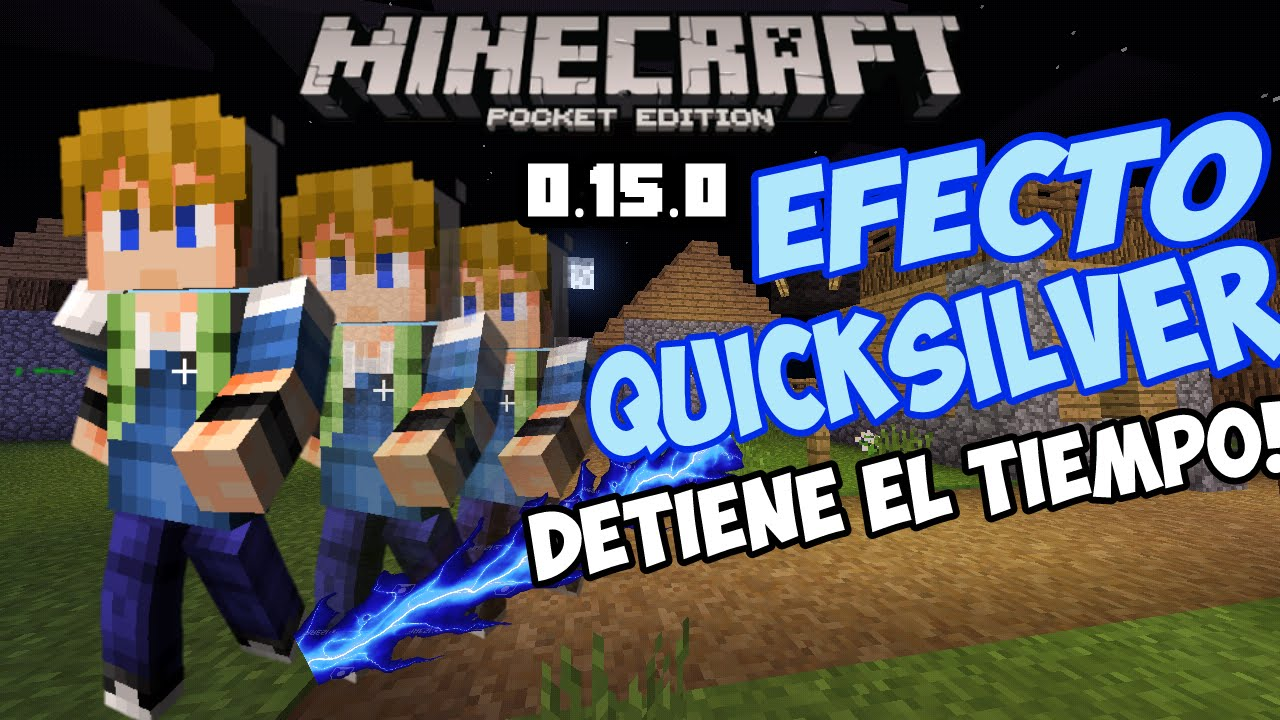 Conviértete En Quicksilver Detén El Tiempo Rápidez Minecraft Pe - Skins para minecraft pe quiksilver