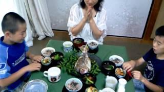 リョウイチのお祝い! 【 シマいリスの祝い膳 】鯛の尾頭付き thumbnail