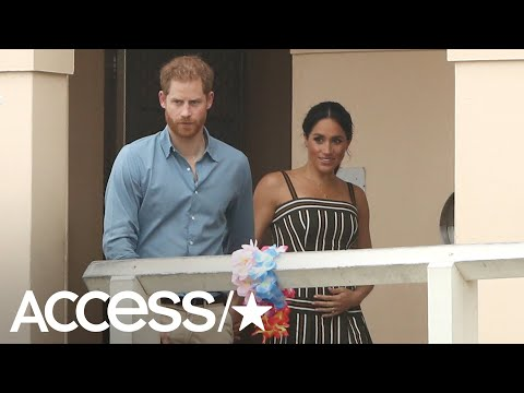Meghan Markle Adorably Cradles Her Baby Bump In Australia | Access