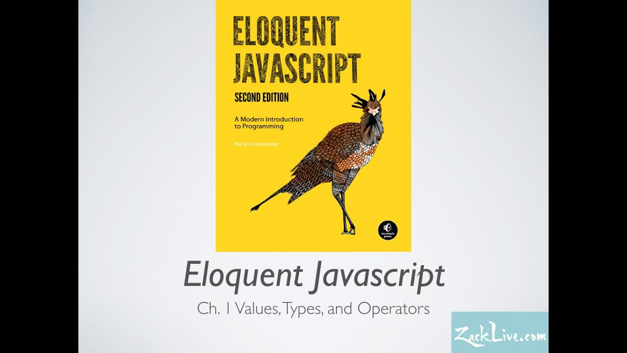 Eloquent JavaScript Ch 1 - Learning Programming from Great Books