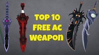 AQW TOP 10 FREE AC WEAPONS