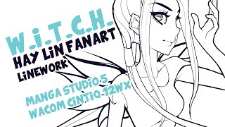 Hay Lin (W.I.T.C.H.) fanart - Linework
