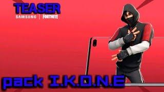 FORTNITE BANDE ANNONCE du skin I.K.O.N.E et l'emote scénario (pack promotionnel Samsung S10+)