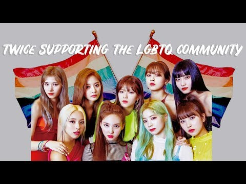 Twice Being Supportive Queens (lgbtq)