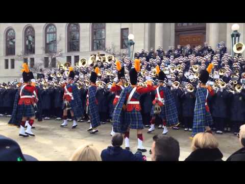 Notre Dame Marching Band at Bond Hall: Victory Clog and Victory March (November 15, 2014)