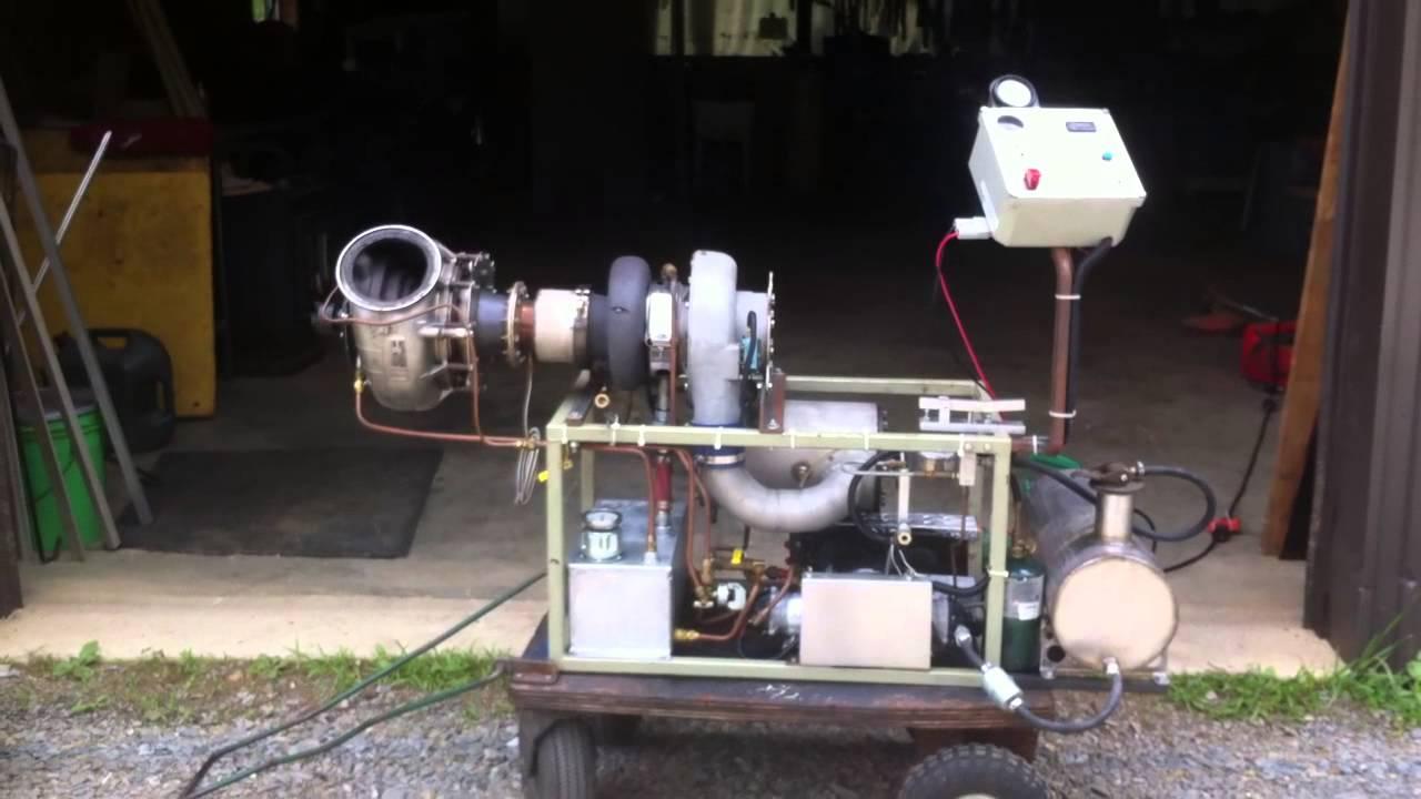 how to build a turbine jet engine