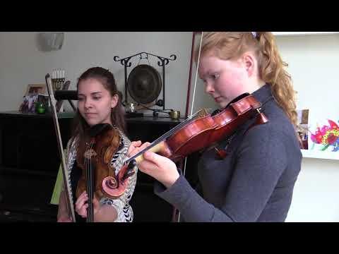 Repetitie met Sedna Heitzman en Machteld Koopmans - Vrienden concert 11 april 2018
