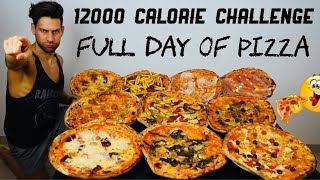 12000 Calorie Challenge - Italiano Cheat Day - Full Day of Pizza (ENG SUB)
