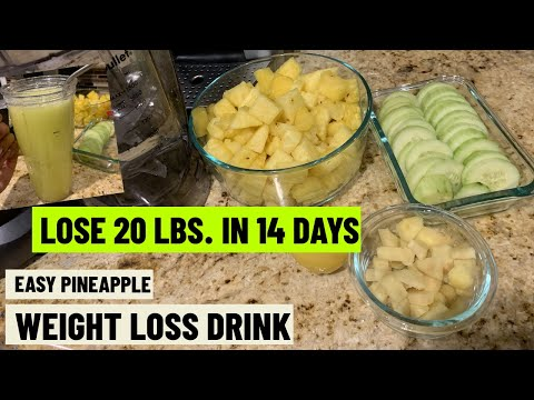 HOW I LOST WEIGHT FAST | SUPER FAST EASY PINEAPPLE WEIGHT LOSS DRINK | Quick Results Flat Stomach