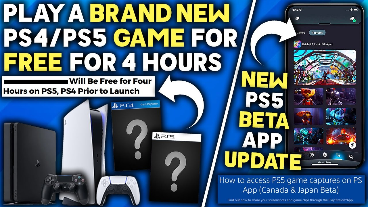 Download Play a BRAND NEW PS4/PS5 Game for FREE - NEW PS5 App Beta UPDATE, NEW RPG + Open World Game Reveals
