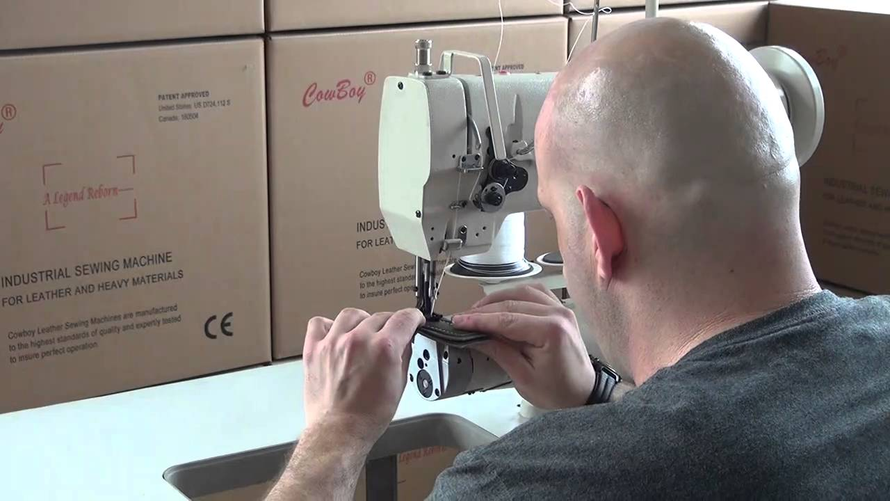 machine coudre cuir canon triple entrainement youtube. Black Bedroom Furniture Sets. Home Design Ideas