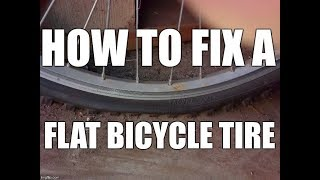 How to Fix a Flat Bike Tire With Patches Repair Kit How To Build A Motorized Bicycle Part 3