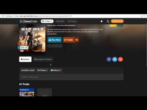 GamesTrader.co.za - Making a buy offer