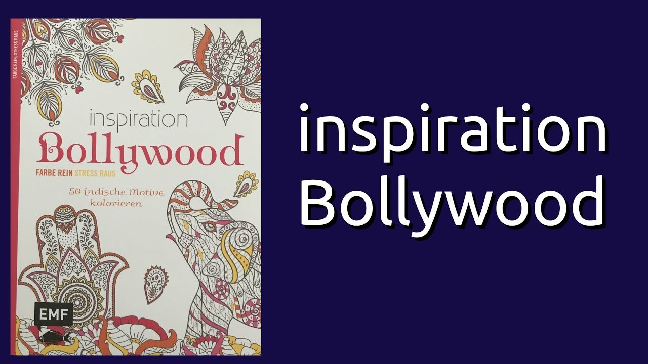coloring book flip through inspiration bollywood youtube