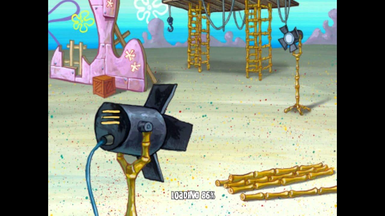 spongebob lights camera pants pc all props