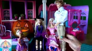 Russia Barbie14! Барби спецвыпуск Хеллоуин часть 2 В доме привидение Кукольный сериал Барби Жизнь в