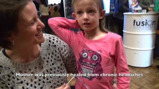Child healed from blurred vision & no more glasses - John Mellor Healing Ministry