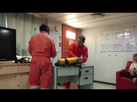 Offshore Life - Drills and Training Onboard Accommodation Work Barge