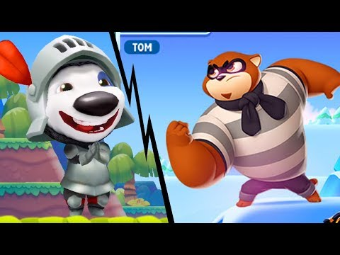 TALKING TOM SPLASH FORCE - Knight Hank VS Racoon Boss | Tom Hero Dash | Tom Gold Run