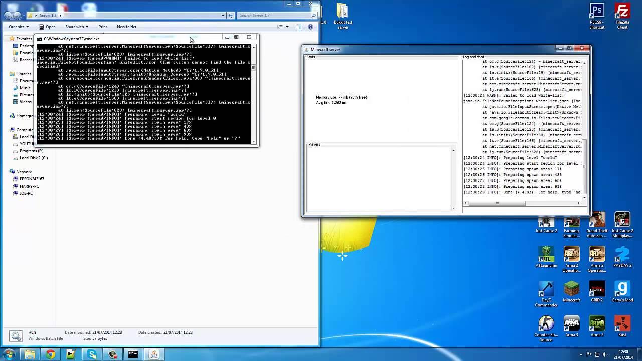 How To Make a Minecraft Server And Adding More Ram [8.80.8]