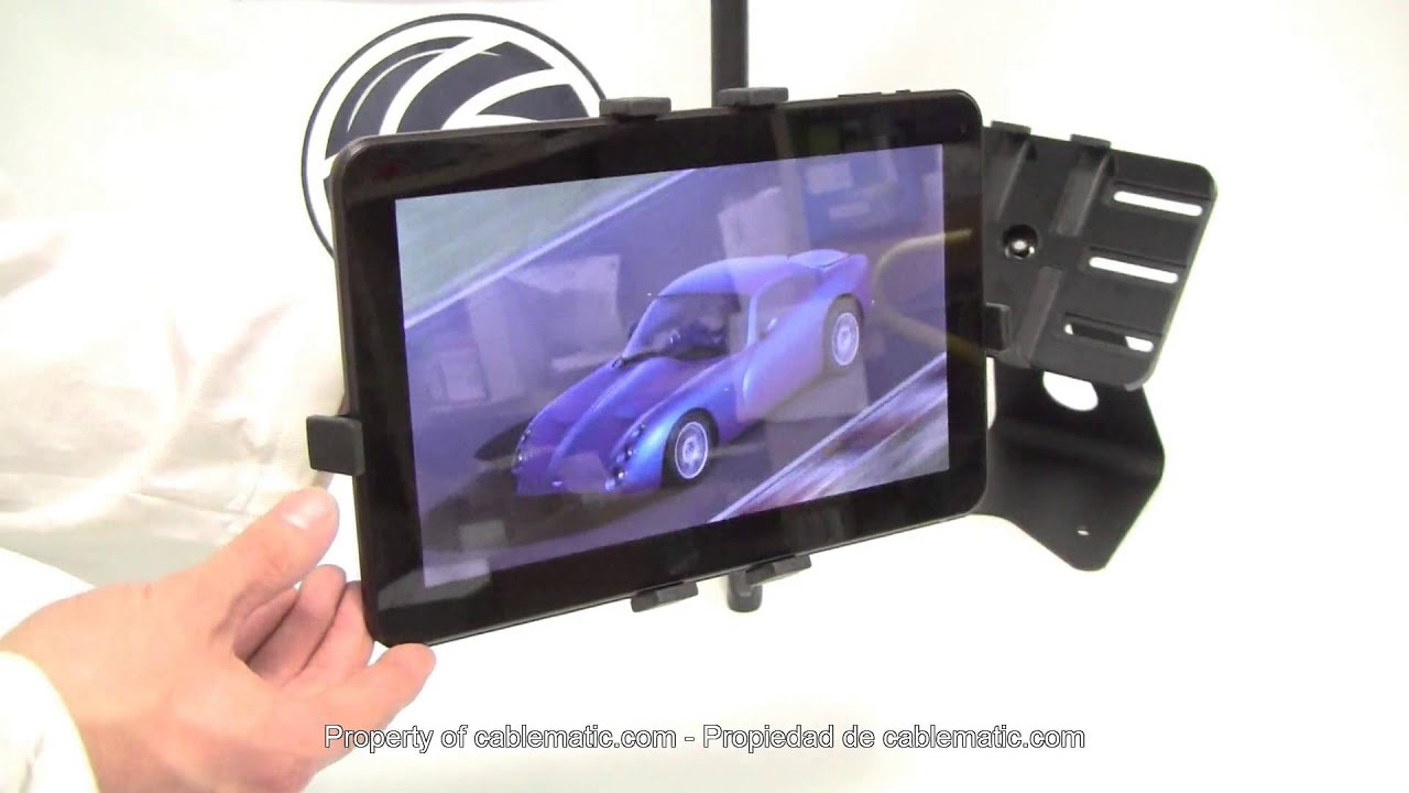 Soporte para tablet o ipad distribuido por cablematic youtube - Soporte para tablet ...