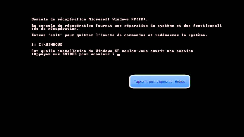 windows system32 config system manquant