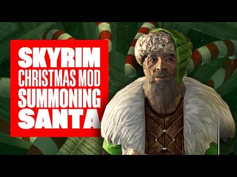 Going On A Skyrim Christmas Quest For Cookies! SKYRIM SANTANISM MOD
