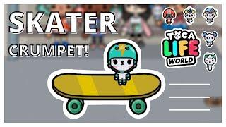SKATER CRUMPET!  New secret crumpet in Toca Life World  toca aesthetics