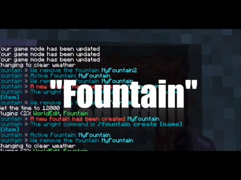 how to make a cool fountain in minecraft