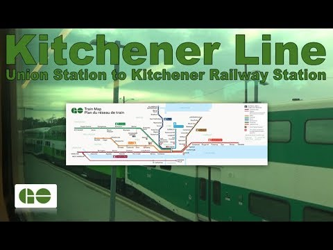 Kitchener Line - GO Transit 2005 Bombardier BiLevel VII 2612 (Union Stn to Kitchener Railway Stn)