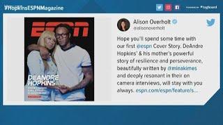 Texans wide receiver DeAndre Hopkins, mom on cover of ESPN the Magazine