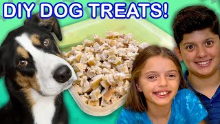 We Made Homemade DOG TREATS!  | Universal Kids