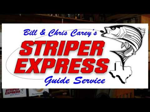 Lake Texoma Fishing Guides-Striped Bass On Summer Pattern Slab Spoons-Striper Express-Chris Carey