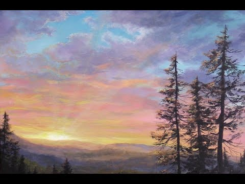 Sunrays Over The Valley (Acrylic Painting)