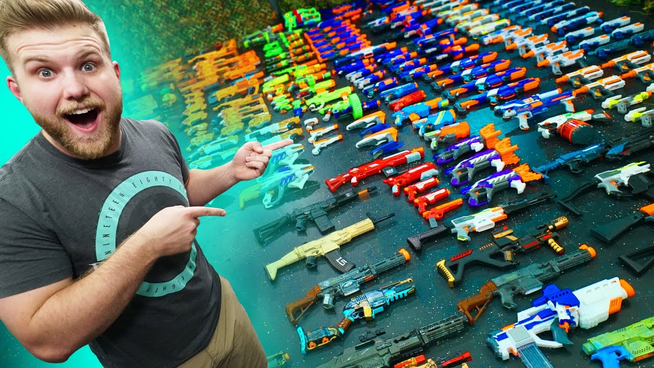 World S Biggest Nerf Collection Challenge Youtube