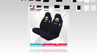 Save 50%  And Get Latest Emoji Front Car Seat Covers