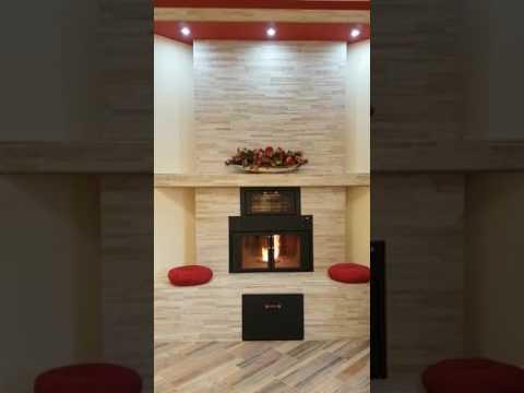 termocamino ftl con forno genius combinato legna pellet