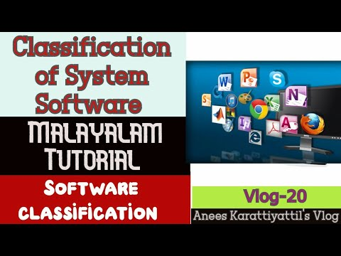 Classification Of System Software | Software Classification | Tutorial (Malayalam)| Vlog -20