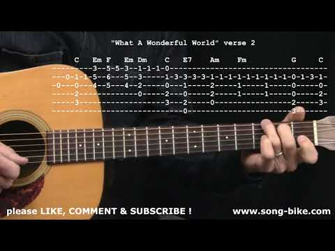 """What A Wonderful World"" by Louis Armstrong : 365 Riffs For Beginning Guitar !!"
