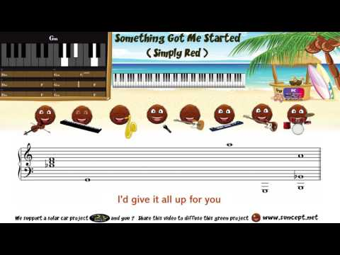 How to play : Something Got Me Started (Simply Red) -  Tutorial / Karaoke / Chords / Score / Cover