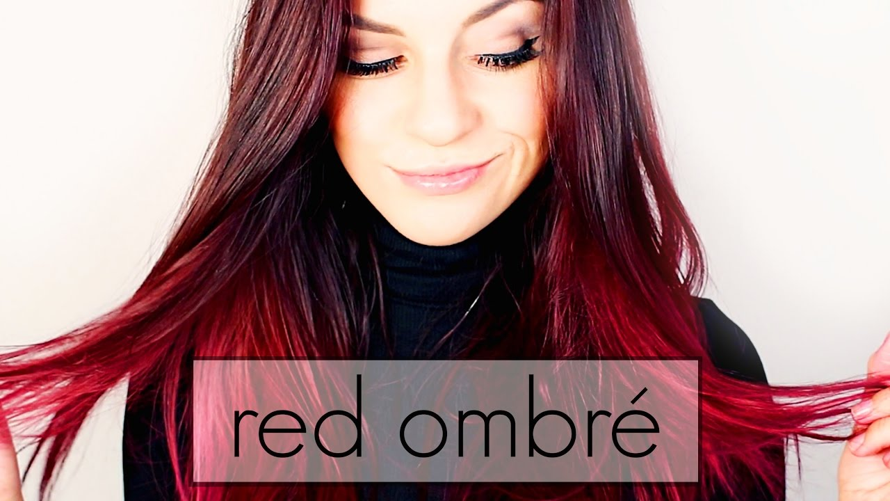 red ombr hair dye rot ombr f rben tutorial youtube. Black Bedroom Furniture Sets. Home Design Ideas