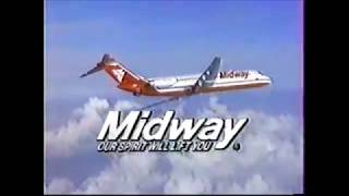 1988 Midway Airlines with Mike Ditka Commercial