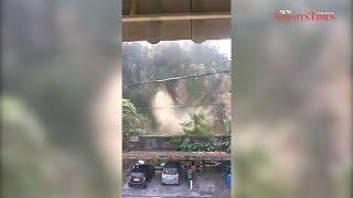 Landslide temporarily halts SUKE work